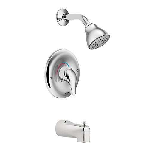Moen L2353 Chateau Single Handle Posi-Temp Tub and Shower Faucet, Valve Included, Chrome