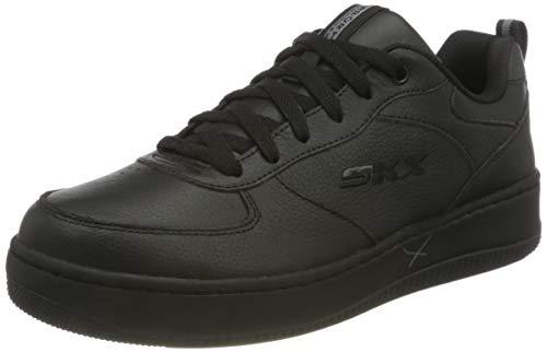 Skechers Damen Sport Court 92 Sneaker, Schwarzes Leder, 39 EU