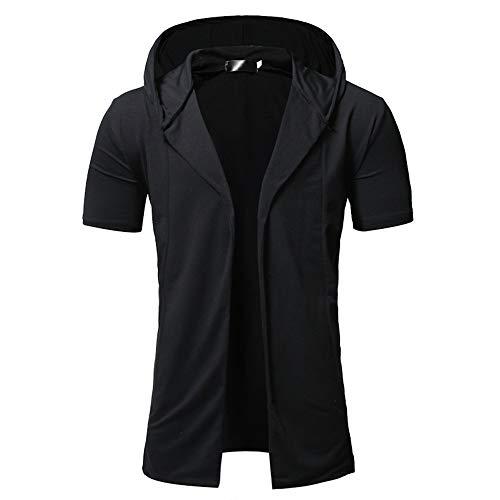 Shirt Hombre Verano Moda Regular Fit Hombre Deportiva Camisa Cardigan Manga Corta Ocio Camisas Color Sólido...