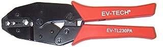 Evertech Professional Coax Coaxial BNC Connector Crimp Crimping Tool - RG59 Siamese Cables for CCTV Security Cameras. BNC Connectors Crimper for RG55,RG58,RG59,RG62,5,6, 21, 140, 141, 142 Crimp Tool