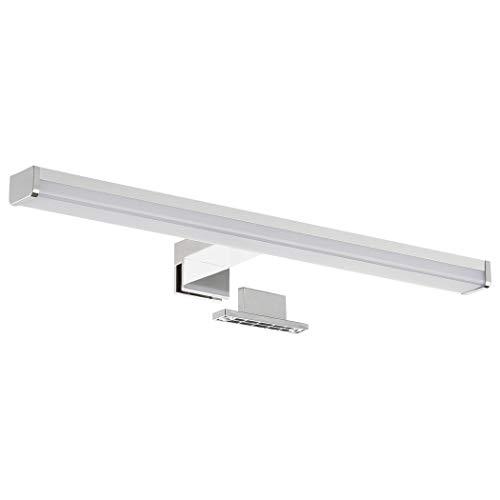 SEBSON® LED Spiegelleuchte 40cm, Bad IP44, Aufbauleuchte + Klemmleuchte, neutralweiß 4000K, 400x97x21mm, 9W, 700lm, Aluminium, Schminklicht