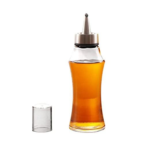 Prevessel Botella rociadora de aceite para cocinar, 400 ml, pulverizador de aceite transparente a prueba de fugas, dispensador de aceite de oliva portátil para cocinar hornear, barbacoa, ensalada