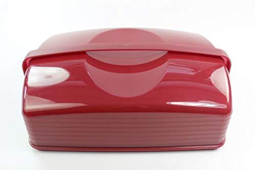 Tupperware Königskuchenbehälter Exclusiv XXL dunkelrot Super Bäcker Kuchenform 35356