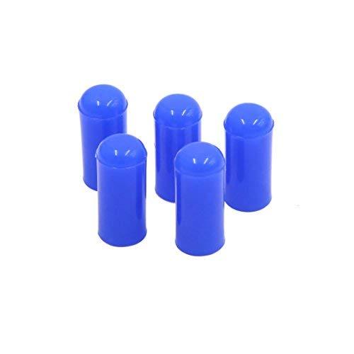 DealMux 5pcs 4mm Silikon Verschlusskappe Saugschlauch Schlauchende Bung Blue
