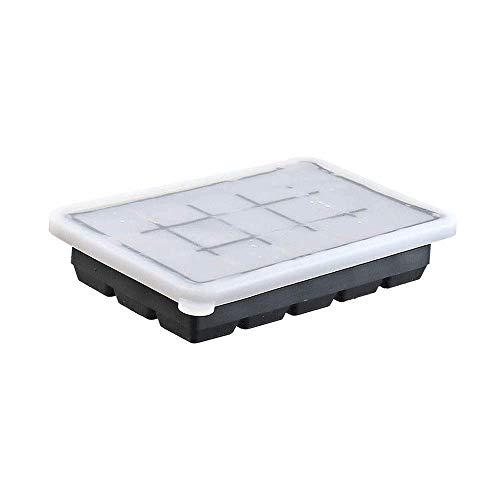 Bandeja de cubitos de hielo de la cocina - Moldes de hielo - base flexible para los cubitos de hielo de fácil liberación - espacio de congelador con tapas apilables sin derrames - lavavajillas seguro