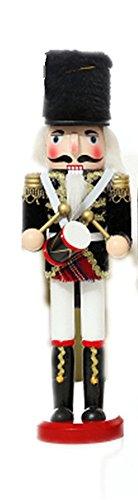 Satz mit 4 Nussknacker-Soldaten im England/Schottland-Stil, Weihnachts- und Feiertagsschmuck, Geschenk, 30,5 cm groß, holz, One Drummer