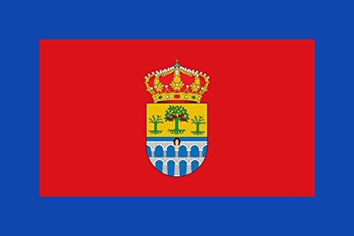 magFlags Bandera Large De Proporciones 2/3. Paño de Color Rojo con un Borde de Color Azul Cuyo Ancho es de un Sexto de la Altura del paño | Bandera Paisaje | 1.35m² | 90x150cm