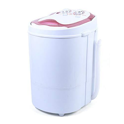6kg 240W 54x35x34cm Tragbar Kleine Waschmaschine Waschautomat Zuhause Washing Machine,mit Dehydration/Wasch Schlafsaal/Home (Rose)