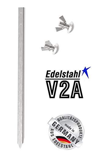 Pfosten aus Edelstahl (75cm) für KFZ- Schilder zum Kennzeichen der Parkplätze zum einschlagen oder betonieren. (inkl. BEF. Materialien aus Edelstahl)