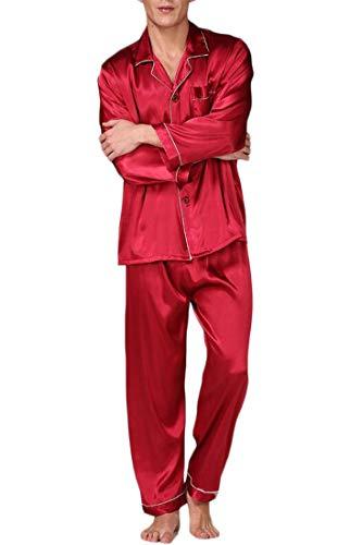H&E&E - Pijama - para Hombre Red1 M