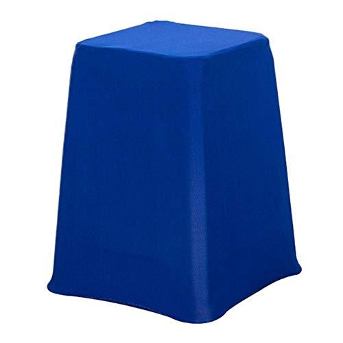 Moderne stoelhoes elastische bruiloft banket stoelhoezen keuken eetkamerstoel hotel stoelhoezen effen kleur stoel zitkussen, blauw, 28 28 48cm
