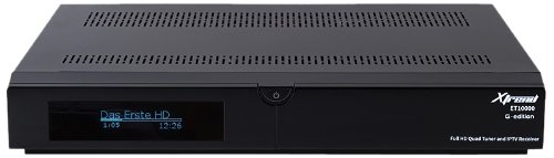 Xtrend ET 10000 Receiver HD (3 x DVB-C/T2 Hybrid Tuner, Linux, Full HD, HbbTV, PVR Ready) schwarz
