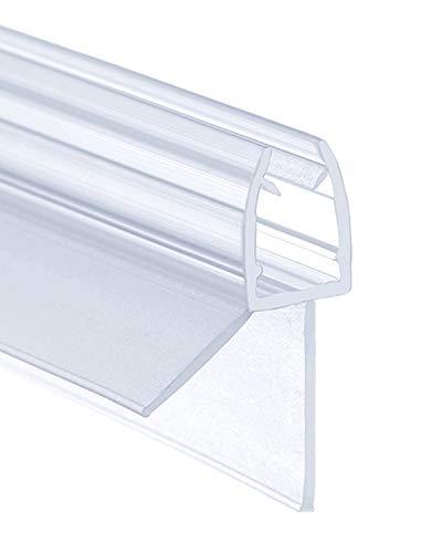IMPTS 100cm Dichtungen für 5mm 6mm Duschwand Glastür Glasdicke, Ersatzdichtung Wasserabweiser Duschdichtung Spritzschutz Bad Dusche