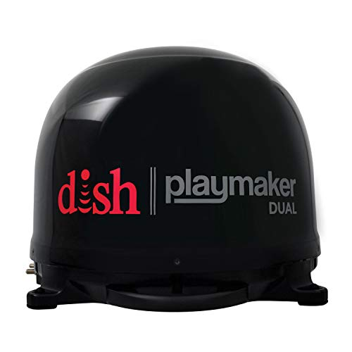 Winegard PL-8035 Black Dish Playmaker (Dual HD RV Satellite Antenna Dual Receiver Capability, Optional RV Roof Mount Sold Separately),1 Pack