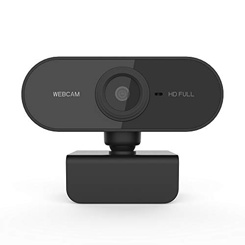 1080P Webcam, NP HD PC Webcam USB Mini Computer Camera with Built-in Microphone, Flexible and rotatable Clip, Suitable for laptops, desktops and Games, Black