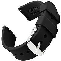 Archer Watch Straps   Repuesto de Correa Reloj de Silicona para Hombre y Mujer, Caucho Fácil de Abrochar para Relojes y Smartwatch   Negro, 22mm