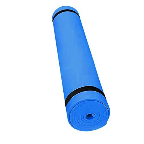 Hunpta - Esterillas de yoga antideslizantes gruesas, ecológicas con correa de transporte para mujeres y hombres, herramienta ideal para yoga, pilates y ejercicios de suelo (azul)