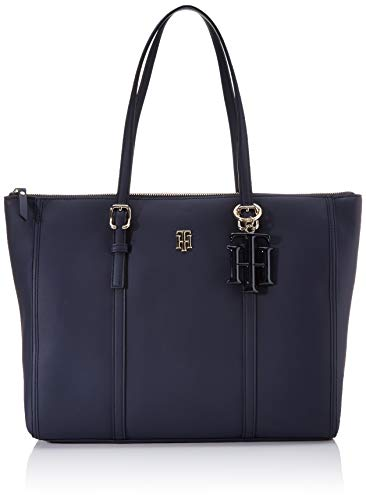 Tommy Hilfiger Damen Th Chic Tote, Blau (Sky Captain), 1x1x1 cm