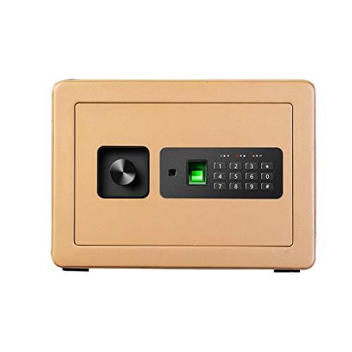 Casseforti Sicurezza Impronta digitale Elettronica Installazione fissa sicura a doppio strato Oro 35 * 25 * 25 cm Safe