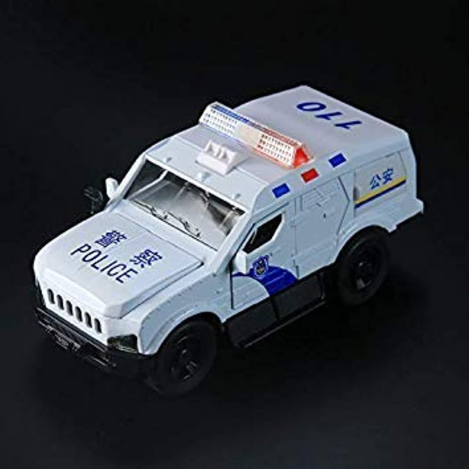 Jeep Wrangler Car Model Toys SUV Vehicles Toys Kids Play Car Model Car Collection Boy Birthday Gifts Pull Back Lights White