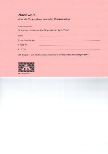 RNK - VERLAG Nachweisbuch Rote Kennzeichen