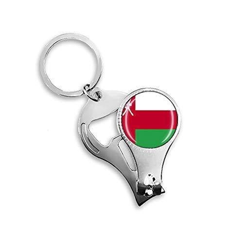 Flaschenöffner mit Oman-Flagge, aus Metall, Glas, Kristall, Schlüsselanhänger, Reise-Souvenir, Geschenk, Zubehör