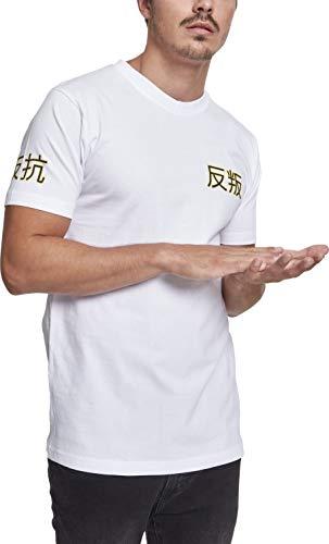 Mister Tee Herren Asia Cat T-Shirt, White, L