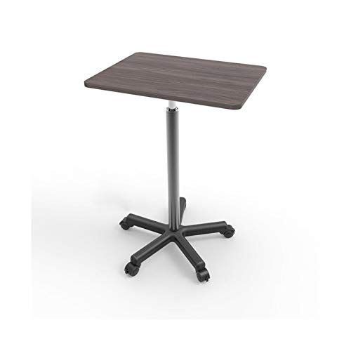 FGYUI Overbed Table, Notebook Desk Height Adjustable, Table Portable Laptop Table (Color : Walnut, Size : Heightened)