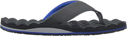 Volcom Men's Recliner Sandal Flip Flop, blue combo, 11 M US