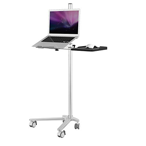 AGZ Mobile Laptop Desk, Height Adjustable Notebook Stand for Laptop up to 46 inches, Ergonomic Aluminum Laptop Stand for Bed Sofa Couch, 44 Lbs Heavy Duty Laptop Holder Compatible with All Laptops