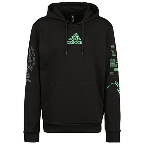 adidas Herren X-City Hoody Sweatshirt, Schwarz, XXL