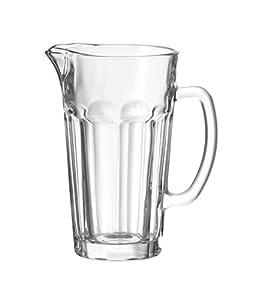 Leonardo Krug Rock, Glas-Karaffe für den Einsatz im Alltag, Wasser-Krug spülmaschinengeeignet, 1500-ml Füllvolumen, 012996