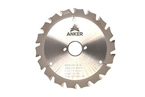ANKER Spezial Hartmetall Holz und Metallkreissägeblatt Ø 150 x 25,4mm 18 Zähne | Zahnstellung Wechselzahn mit Fase| Passend für Bepo FFS150/151S/151SE