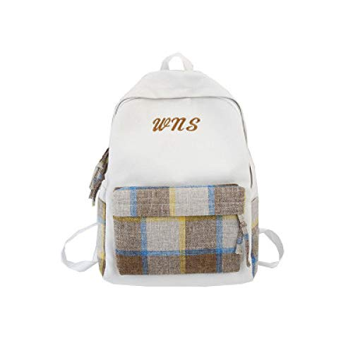 2019 Summer Japanese College Wind Casual Shoulders Middle School High School College Canvas Children'S Bag 1 29 * 12.5 * 40Cm