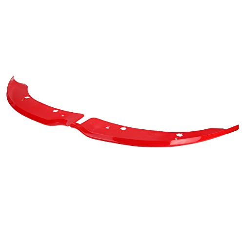 NADAENZU Lip Diffuser Spoiler, for Dodge Charger SRT Scat Pack 2015-2019 A Pair of Car Front Bumper Splitter Protector Deflector Lips Protection,Rot 1