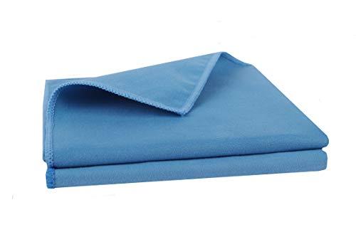 BELLANET Microfaser-Autopflegetücher | feine und weiche Mikrofasern polieren den Lack hochglänzend | qualitative Mikrofaser Poliertücher für Lack, Innenraum oder Cockpit | Set 2 Stück blau