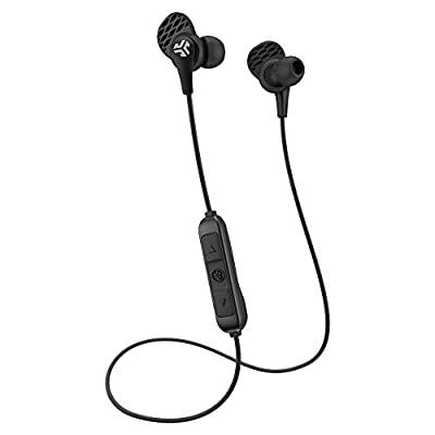 JLab Audio JBuds Pro Bluetooth Wireless Earbuds with Titanium 10mm Drivers and Noise Isolation, Includes Custom Fit Gel Tips and Cush Fins, Black by JLab Audio