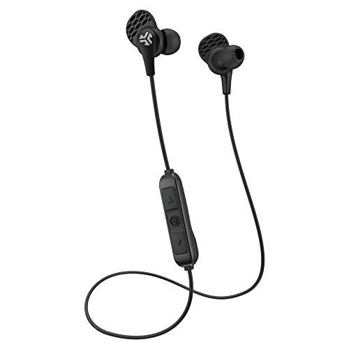 JLab Audio JBudsPRO - Auriculares que se introducen en el oído, con micrófono, ajuste garantizado, garantía de por vida, color morado