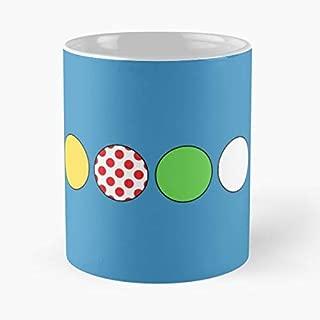 Tour De France Jerseys Classic Mug Coffee Tea - Mug, Funny 11 Oz Gift Idea For Coworkers, Friends
