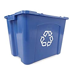 Rubbermaid stackable recycle bins