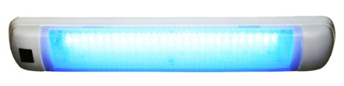 Aqua Signal 16533-7 Lampe LED Multifonction 12 V/24 V 40 cm x 3,12 Bleu Carré