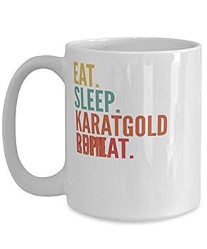 Karatgold Coin Crypto Eat Sleep Karatgold Coin Repeat Mug 15oz white