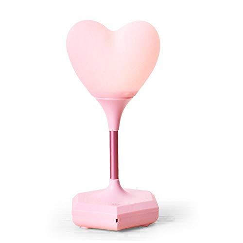 WZXCAP Lampe Creative Love Heart Nuit USB Charge Veilleuse atmosphère émotionnelle Lampes Tactile capteur de lumière (Couleur : Rose)