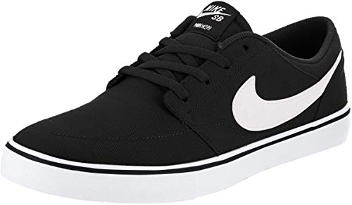 Nike Unisex-Erwachsene Sb Portmore Ii Solar CNVS Skateboardschuhe, Schwarz (Black/White 010), 42 EU