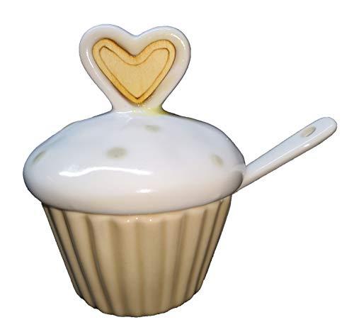 Publilancio srl Zuccheriera a Forma di Cupcake in Ceramica BOMBONIERA