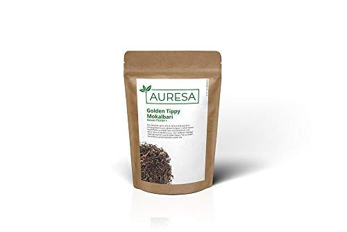 AURESA Schwarztee Golden Tippy Mokalbari | Assam Tee - zweite Ernte | Ein mild-würziger Tee aus Indien | Wenig Gerbsäure