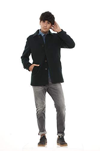 Camplin Overcoat Giaccone Uomo-Verde Oliva-54