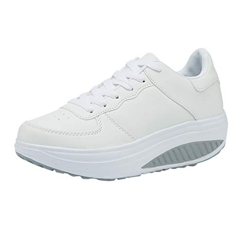Lilicat_Damen Sportschuhe Sneaker Laufschuhe Profilsohle Freizeitschuhe Schuhe knöchelhohe Geschnürt Atmungsaktives Ultra-Light Low-Top Athletic Sneaker