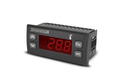 Elektronische Temperaturanzeige für PT100, Thermoelemente Typ K und J von -200 bis +1350°C 230V