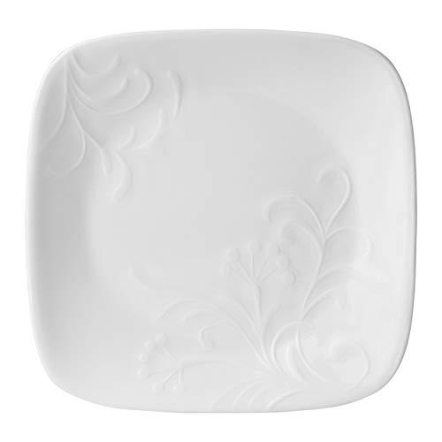 Corelle Boutique Cherish 6.5 Square Bread or Desert Plate (Set of 6) by CORELLE